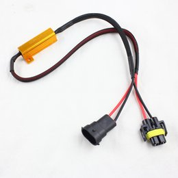 Wholesale Hid Canbus Resistors - H8 H11 LED DRL Headlight Fog Light Canbus NO Error 50W 6Ohm Load Resistor Wiring Canceller Decoder For Car LED Lights