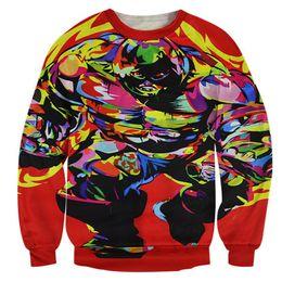 Wholesale Cartoon Mens Ties - w1208 Alisister Tie-dye sweatshirt men women's harajuku hoodies 3d printed cartoon sweatshirts mens painting sweatshirt clothes tops