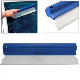 Wholesale Car Scratch Cleaner - Car Water Blade Non-Scratch Silicone Squeegee Vehicle Clean Drying Window small order no tracking