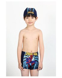 Wholesale Hot Boys Swimming Trunks - Hot Free Shipping Children Swimwear New 2016 Lovely Boy Swim Trunks Swimsuit Cartoon pattern Boys Swim Trunks Free Shipping BH1793