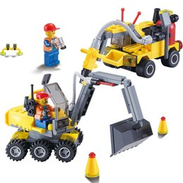 Wholesale Toy City Buildings - City Construction Excavator Building Block sets Compatible all brand City Toys Brinquedos Educational Bricks Gift