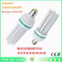 Wholesale Bulb Corn Led 16w - Led bulb light 2U 3U 4U 3W 5W 7W 9W 12W 16W 19w 23W 30w LED corn light AC85-265V E27 lamp for Home