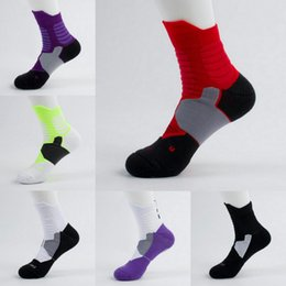 Wholesale Thick Ankle Socks - Men Sport Professional Elite Socks Thick Terry Bottom Basketball Socks Male Breathable Compression Athletic Ankle Sock