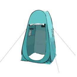Wholesale Camp Shower Tents - Wholesale- Pop-up Camping Tent Privacy Changing Toilet Tent Outdoor Automatic Beach Tent Shower Changing Room Shelter with Carry Bag