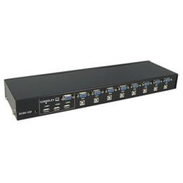 2019 moniteur de sortie vidéo Prise en charge d'un commutateur de boîtier de commutation KVM externe USB 2.0 8 ports 1920x1440 NOUVEAU