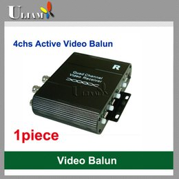 Wholesale Active Video Receiver - Free shipping UAB-402R 4ch PAL NTSC SECAM Active Video Receiver Balun for CCTV DVR