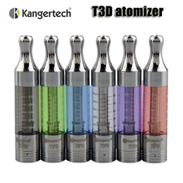 Wholesale Bottom Dual Coil - 100% Original Kanger T3D atomizer kangertech Bottom dual coil 3.0ml airflow control clearomizer for 510 ego thread battery