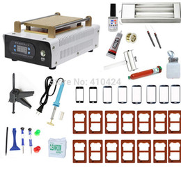 Wholesale Touch Screen Glass Separator Machine - Wholesale-Full Set Vacuum LCD Separator Machine With 17 Moulds For Iphone Sumsung Touch Screen Glass Lens Repair , Built-in Pump