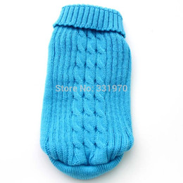 Wholesale Dog Jumper Sweaters - Wholesale-Free shipping!Blue Red KINT dog Sweater Coat design,Pet Jacket Clothes Jumper,5 sizes available