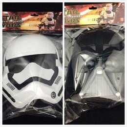 Wholesale Led Lights For Halloween Masks - 20pcs 2016 hot sale Star Wars masks Darth vader stormtrooper LED Light up masks for star wars cosplay