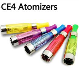 Wholesale Ego Ce Atomizer Clear - Wholesale ce 4 clearomizer 510 tank long wick no leaking ego vaporizer 510 atomizer ce4 vape pen cartomizer 1.6ml e shisha hookah clear tank