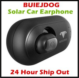 solar car bluetooth Promo Codes - New Arrival BUIEJDOG Solar Power Bluetooth Car Earphone Vehicle-Mounted Car Headset Wireless Earbuds Earphone with Permanent Power Supply
