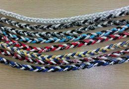 Wholesale Cheap Baseball Gifts - 3 ropes sports braided titanium necklace Health silicone fashion cheap sports baseball necklace Various colors and sizes