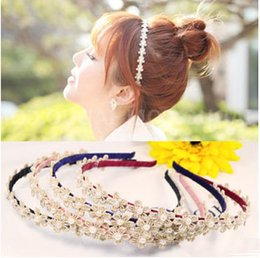 Wholesale China Wholesale High End Jewelry - Korea high-end jewelry Korean small plum lace pearl hair bands headdress hair accessories simple sweet mix wholesale