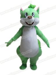 Wholesale Squirrel Mascot Adult Costume - AM9199 Green Squirrel mascot costume Fur mascot suit animal mascot outfit adult fancy dress