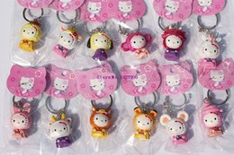 Wholesale Cute Charms For Sale - Sale Set   12pcs Cute Hello Kitty Action Figure Toys 5cm Chinese Zodiac Keychain Great Gift For Christmas