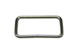 """Wholesale Straps For Bag Wholesale - Generic Metal Silvery Rectangle Buckle 1.75"""" X 0.85"""" Inside Dimension for Strap Keeper Pack of 20"""