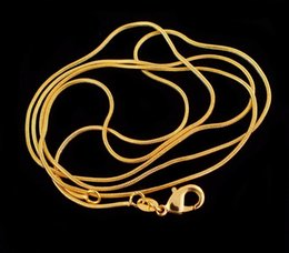 Canada Livraison gratuite Grossiste 1pc 1.2mm 18K Gold Filled Wonderful Welcome Unisex Snake Chain Collier 16-30 pouces Offre
