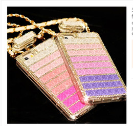 """Wholesale Diamond Cell Phone Cases - New Luxury perfume Bottle Chain Rhinestore For Iphone 4s 5s Iphone 6 cases 4.7"""" Iphone 6 plus 5.5""""Cases Diamond cell phone cases back Cases"""