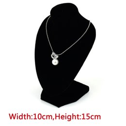 Wholesale Wholesale Jewelry Mannequin Necklace Holder - Wholesale-1pcs Black Decorate Display Stand Mannequin Necklace Jewelry Pendant Show Holder Wholesale