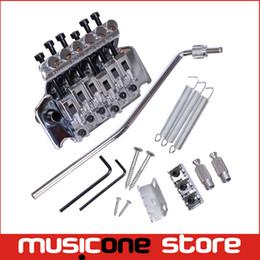 Wholesale Guitars Floyd - Silver Floyd Rose Lic Tremolo Guitar Bridges Alloy E Guitar Bridges with Double Lockin System guitar accessories Free shipping MU0472