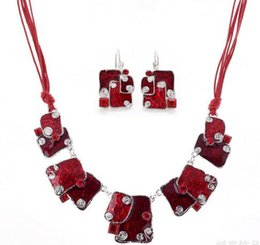 Wholesale Indian Clothing Accessories - Fashion new Earrings & Necklace Choker Collar Statement Necklace and Plated Jewelry set For Women Clothes Accessories dress jewelry