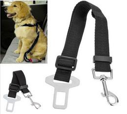 Wholesale Clip Nylon Dog Collar - Adjustable Pet Cat Dog Car Safety Belt Collars Pet Restraint Lead Leash travel Clip Car Safety Harness Free Shipping