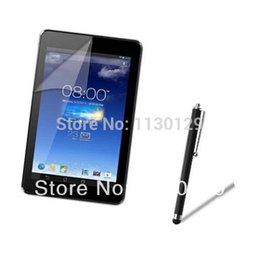 Wholesale Me173x Screen Protector - Wholesale-New Clear Grossy LCD Screen Protector Film Film Guard + Stylus Touch Pen For Asus Memo Pad HD 7 ME173 ME173X HD7 ME173