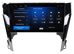 Wholesale dvd player for toyota camry - Free Shipping Android 6.0 10.1 inch Car Dvd Gps for Toyota Camry 2012-2015 4-Core Steering wheel control wifi DVR support