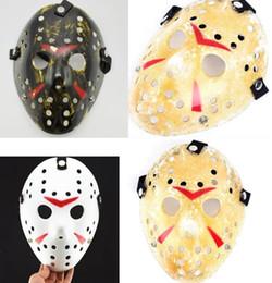 mascaras freddy vs jason Rebajas Freddy VS Jason máscara cara protectora CS Cosplay Killer Mask hombres mujeres niños tema de la película máscaras nuevo partido de Halloween Festival suministros regalo