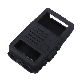 Wholesale Case For Walkie Talkie - Black Silicone Rubber Material Soft Protective Case Cover for Walkie Talkie UV-5R UV-5RA UV-5RB UV-5RC Series 10 x 6 x3.5 cm
