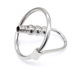 Wholesale sm sounding tube - Latest Male Stainless steel Bondage TUBE Urethra Chastity Dilatator Gay SM Fetish TB005
