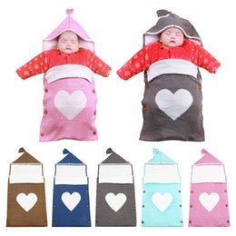 Wholesale Thicken Baby Sleeping Bag - Wholesale- IMSHIE Warm Soft Newborn Pajamas Cute Star Hat Ears Baby Sleeping Bag Thicken Woolen Winter Baby Sleep Sack Infant Blanket 2017