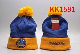 Wholesale Rhinestone Hats For Women - New Fashion Winter LAL basketball Hats for Men women Knitted Beanie Wool Hat Man Knit Bonnet Beanies Gorro Warm Cap