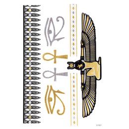 Deutschland Temporäre Tätowierung Aufkleber Metallic Goldfolie Tattoo Flash Tätowierungen 10 Stück Gold Silber Temporäre Tätowierung wasserdicht Versorgung