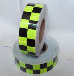 Wholesale Reflective Tape For Trucks - Wholesale-Commercial Grade,Reflective tape for truck, Lime green with suqare printing, truck conspicuity marking tape.5CM x 50Yards