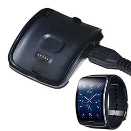 Wholesale Galaxy S Cable - Portable Charger Dock & USB Cable for Samsung Galaxy Gear S SM-R750 Smart Watch