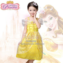 Wholesale Dress Children Fat - Free shipping 2016 new flower girl dress and Children's dresses Belle princess dress a generation of fat children dress performance clo