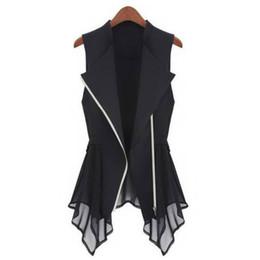 Wholesale Womens Down Vest L - MWSFH Plus Size Long Vest Womens Spring Summer Outwear New Women Vest Coat Europe sleeveless Long Cardigan Top Jackets Outerwear
