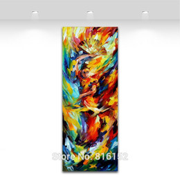 Wholesale Dancers Wall Decor - Flamenco Dancer Abstract Palette Knife Oil Painting Canvas Print Mural Art Drawing Home Office Cafe Wall Decor
