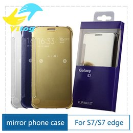 Wholesale Edge Protectors For Shipping - Official Case High quality UV Polishing Full Mirror Protector Cover for Samsung S7 S7 edge free shipping