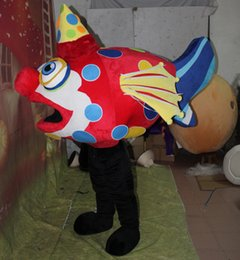 Wholesale Adult Clown Fish Mascot - with mini fan inside the head aquarium clown fish mascot costume for adult to wear for party