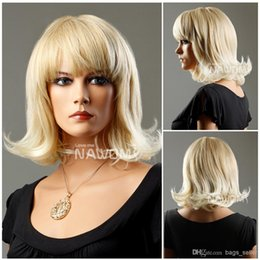 Wholesale Wig Blond Short - rinka hairdo short blond hair wig japanese hair wig for young women Synthetic fiber of 100% Kanekalon 1pc Lot Free Shipping 0729XC670-27T