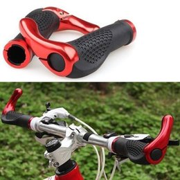 Wholesale Ergonomic Grips Lock - 1 PCS MTB Bike Bicycle Lock-On Ergonomic Comfortable Skidproof Handlebar Grip End Red free shipping