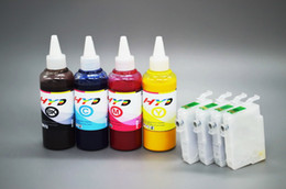 Wholesale Inkjet Refill Epson - T2001 T2002 T2003 T2004 Sublimation ink kit for Epson WF-2520 WF-2530 WF-2540 XP-400 XP-300 XP-200 inkjet printer;(4*100ml + 4 refill carts)