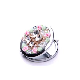 Wholesale Mirror Compact Hearts - Cute Lovely cat girl's pocket mirror portable double Dual sides stainless steel frame cosmetic compact mirror D102101