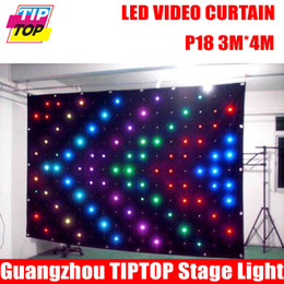 Wholesale Cheap Lead Line - Wholesale-Cheap Price P18 3M*4M LED Video Curtain With Off Line Controller For DJ Wedding Backdrops 90V-240V Tricolor Light Curtain