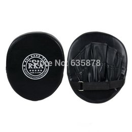 Wholesale Karate Kick Pads - 2014 New Boxing Mitt Training Target Focus Punch Pads Gloves MMA Karate Combat Thai Kick PU Foam Material order<$18no track
