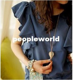 Wholesale Hot Air Balloon Necklaces - New Fashion Women Colorful Jewelry Aureate Drip Hot Air Balloon Pendant Long Necklace Valentine gift