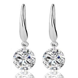 Wholesale Crystal Statement Earrings - Sterling Silver Earrings for Women Gemstone Big Long Dangle Geometric Drop Earrings Swarovski Cubic Zirconia Statement Crystal Earrings